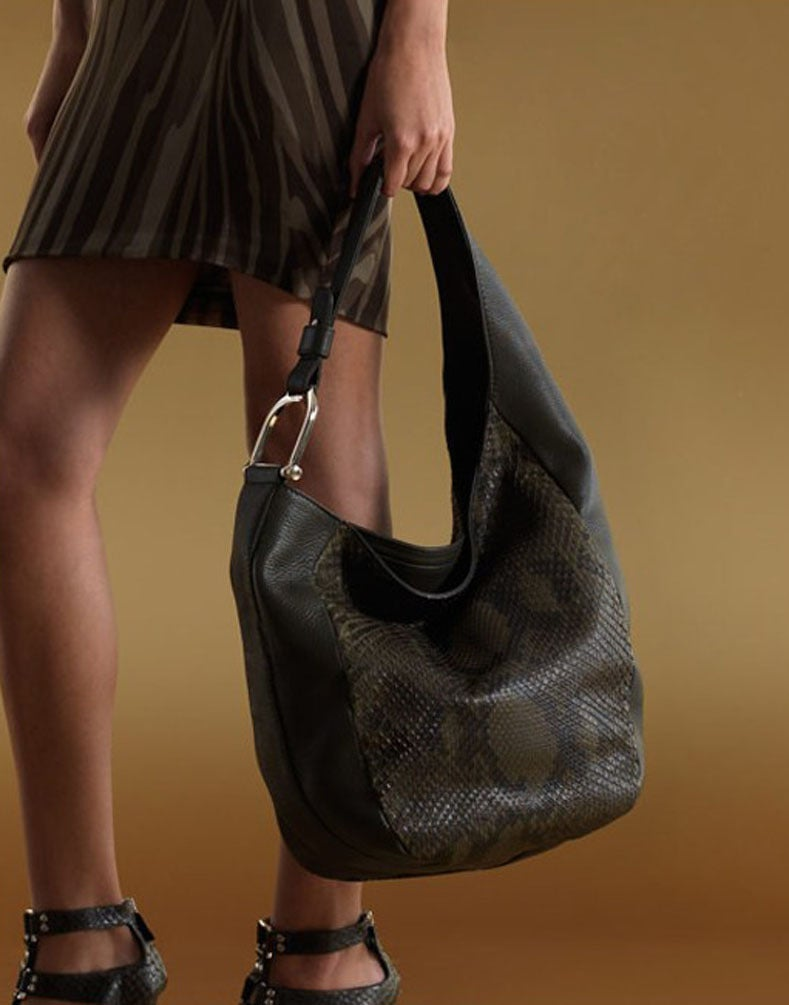 Gucci Taupe Greenwich Python Hobo Bag at 1stdibs