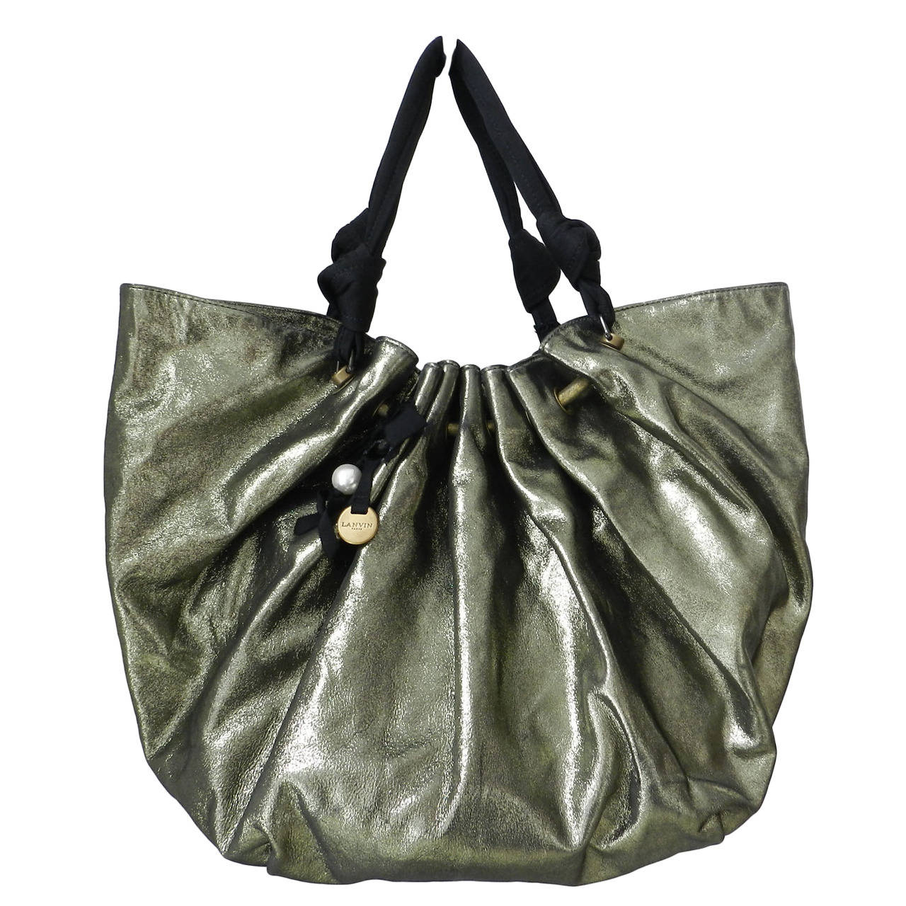 Lanvin Large Polisson Metallic Tote Bag at 1stdibs