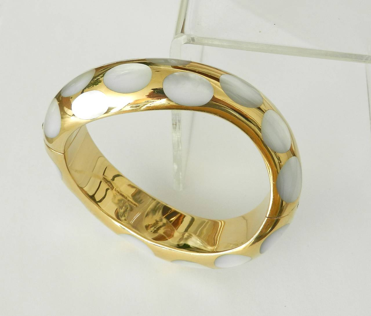 18k Gold And Mother Of Pearl Bracelet 3