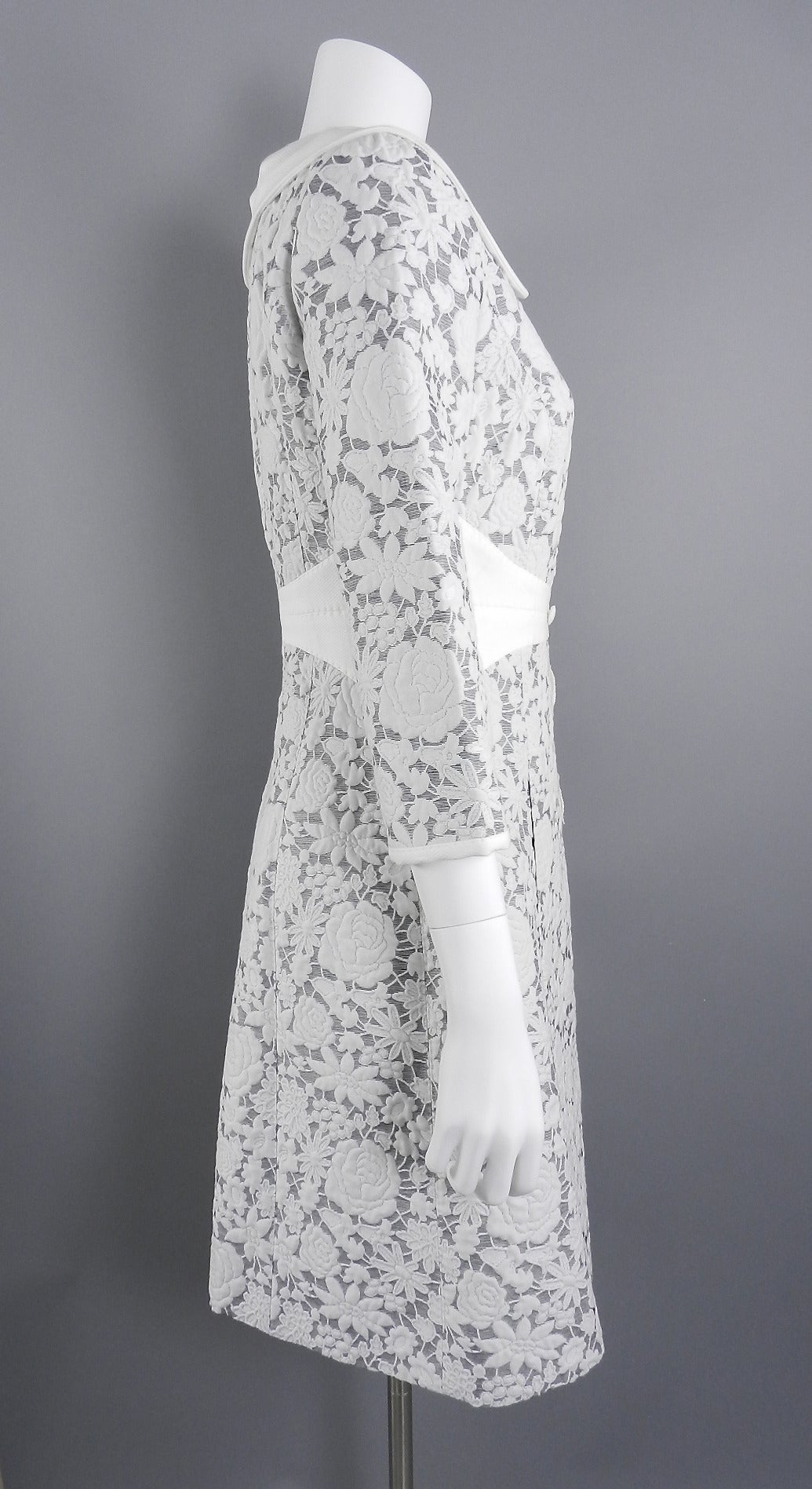 Louis Vuitton White Cotton Floral Jacket At 1stdibs