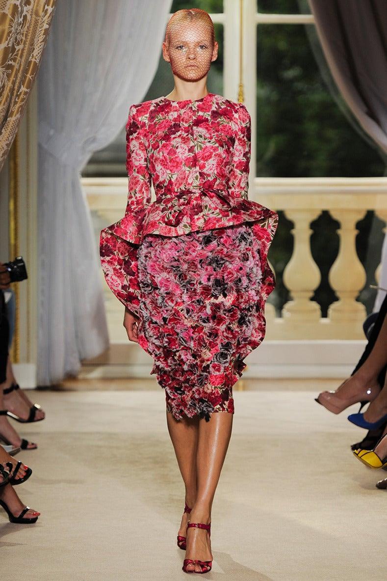 Giambattista vali 2012 fall haute couture carnation floral for Giambattista valli wedding dress price