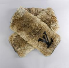 Louis Vuitton Rex Rabbit Fur LV Logo Scarf - Limited Edition Runway
