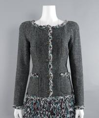 Chanel 13A Edinburg Grey Wool Runway Jacket
