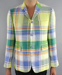 Thom Browne Spring 2013 Runway Yellow and Blue Madras Jacket