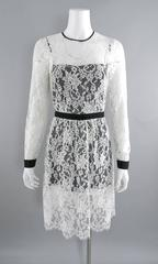 Erdem resort 2014 White Lace 1950s style Dress