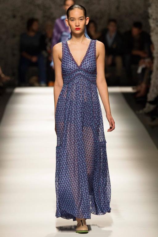 Missoni Runway Purple Knit Resort Maxi Dress / Gown 2
