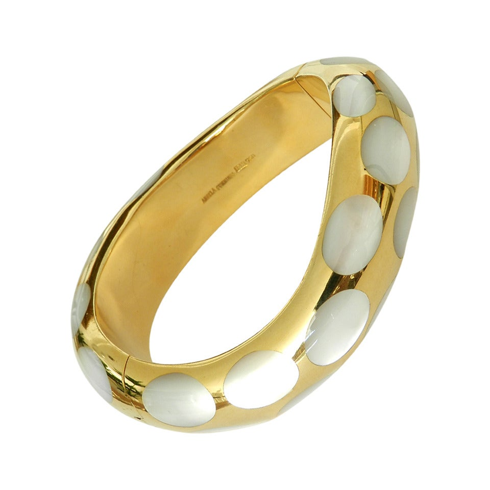 18k Gold And Mother Of Pearl Bracelet 1
