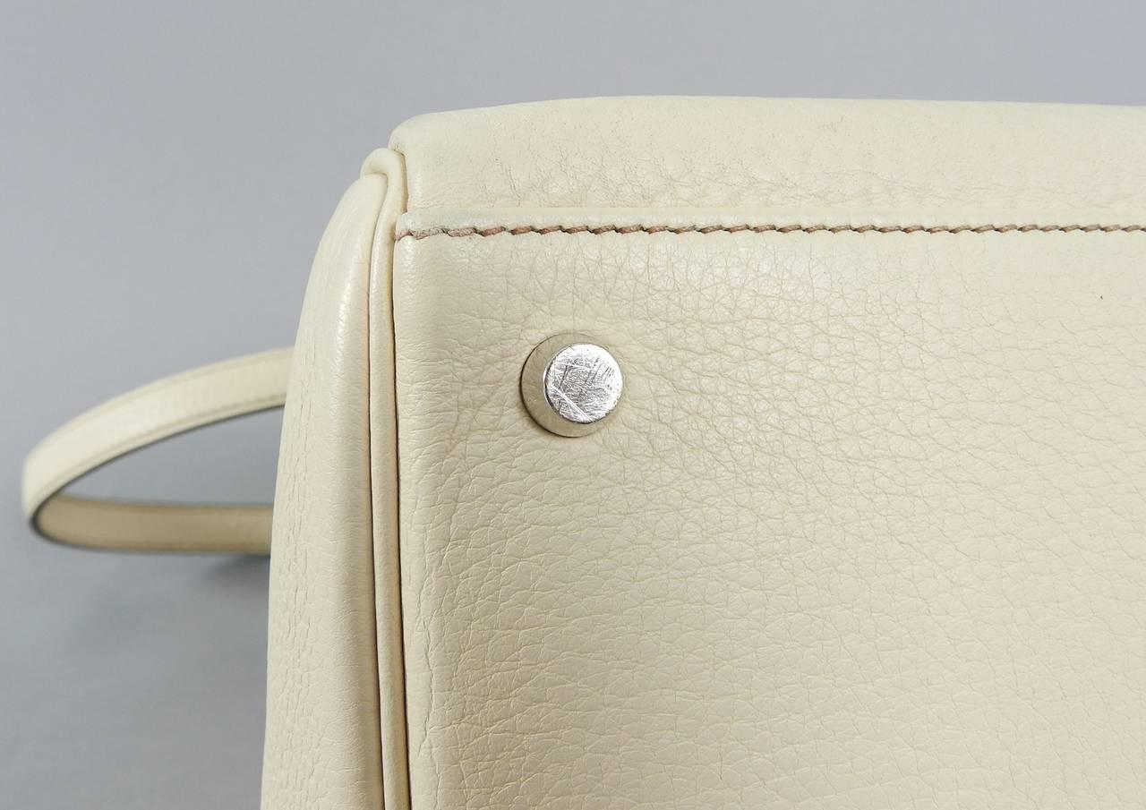 Hermes Kelly 35 Blanc Casse Brushed Palladium 8