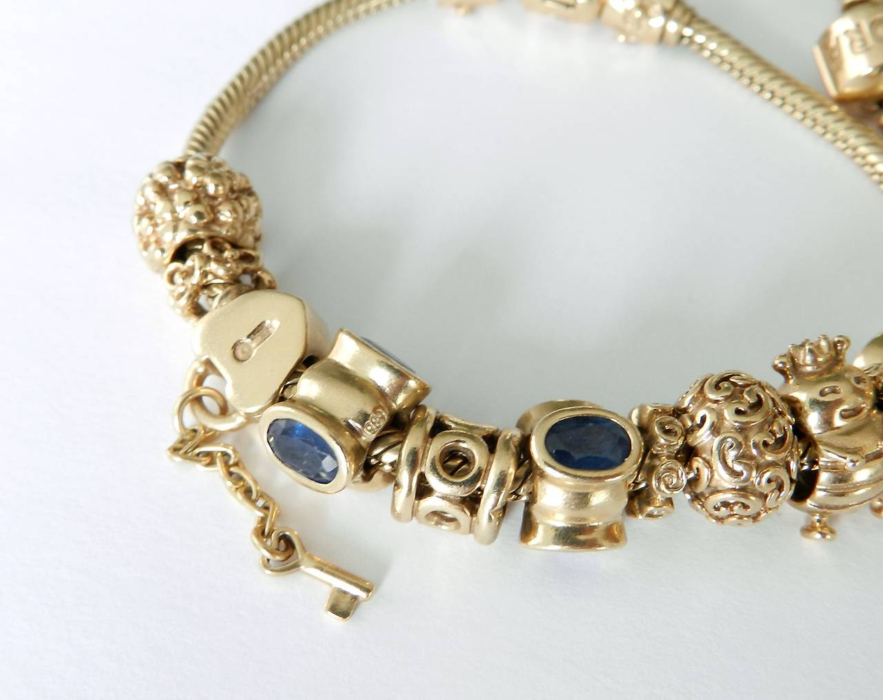 pandora 14k gold charm bracelet car interior design