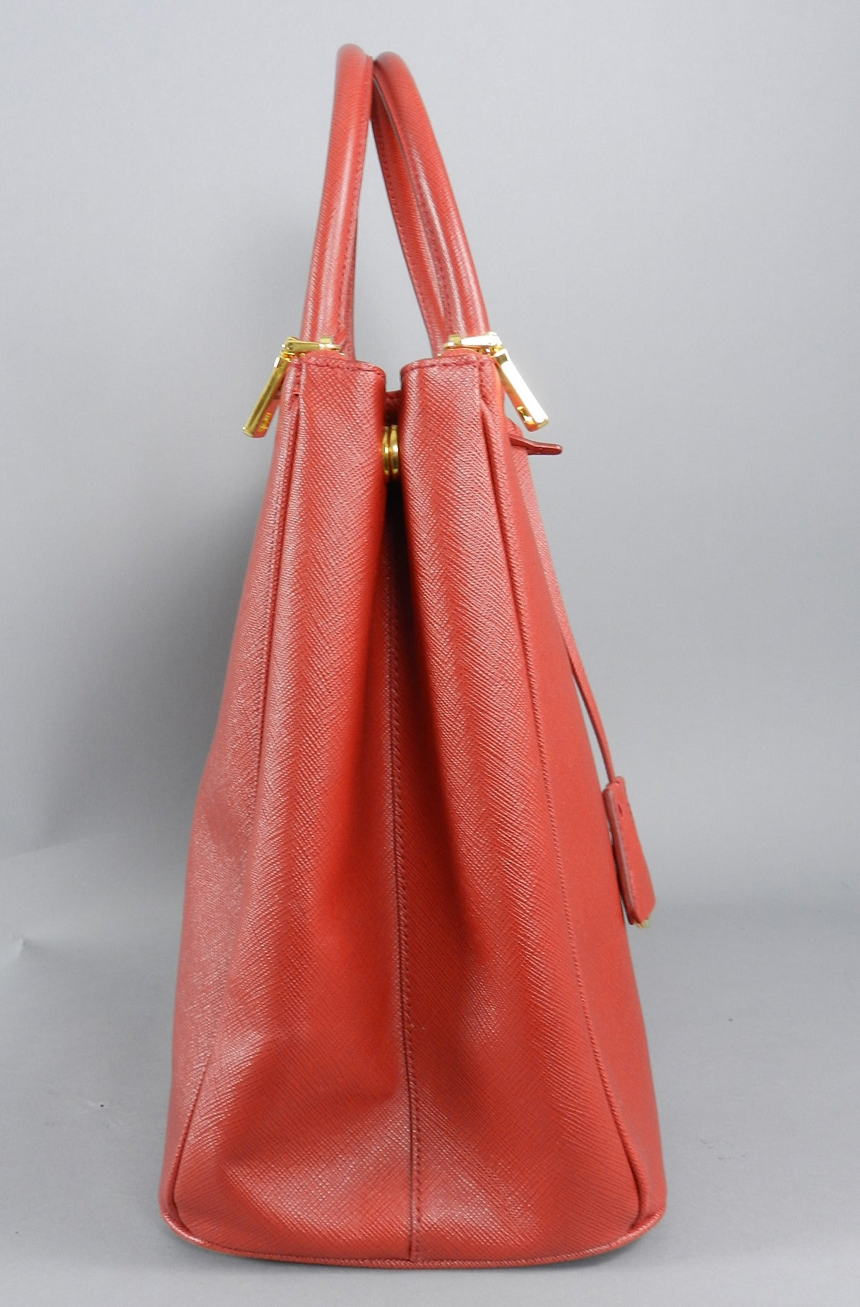 red prada bag leather - Prada Red Saffiano Lux Double Zip Executive Tote at 1stdibs