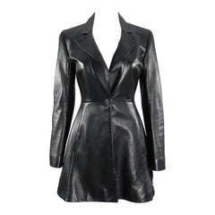 Christian Dior Black Lambskin Leather Riding Jacket