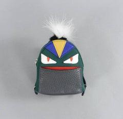 Fendi micro monster backpack purse bag bug charm