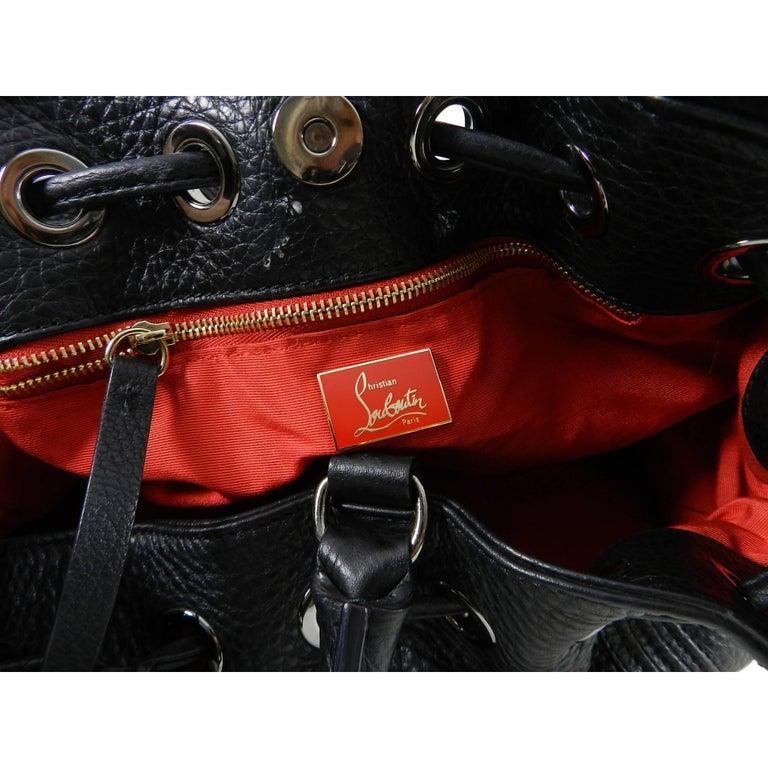 67405f09402 Christian Louboutin Black Leather Drawstring Studded Bag