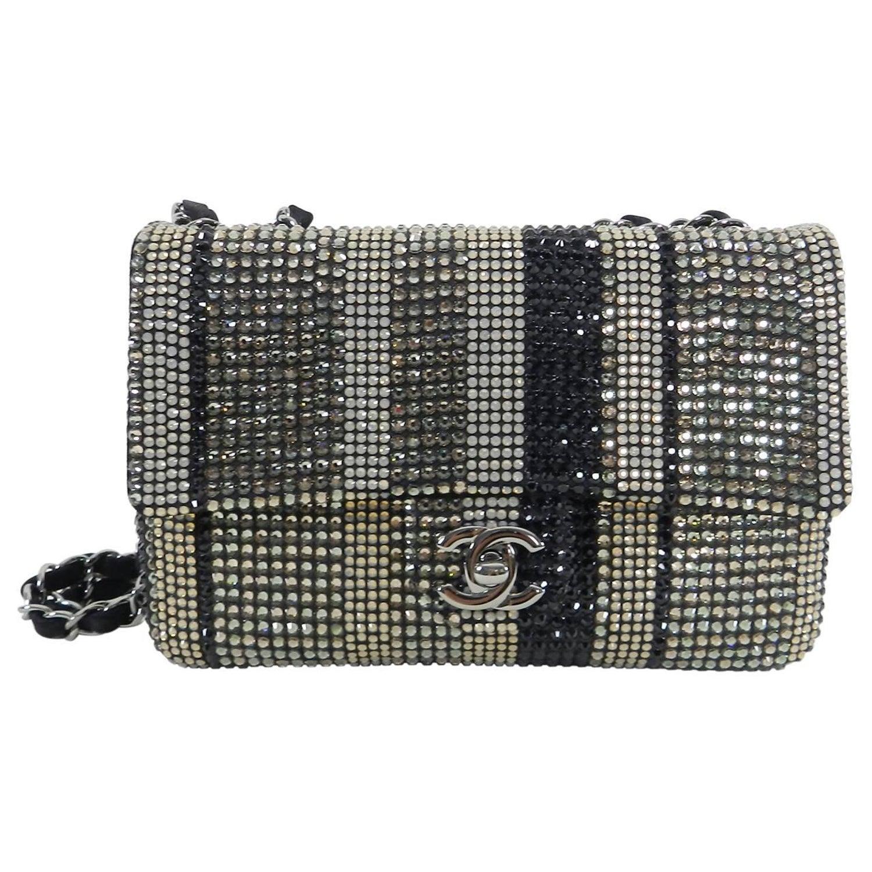 49ee02c5af9 Chanel Strass swarovski crystal Mini Flap Bag at 1stdibs