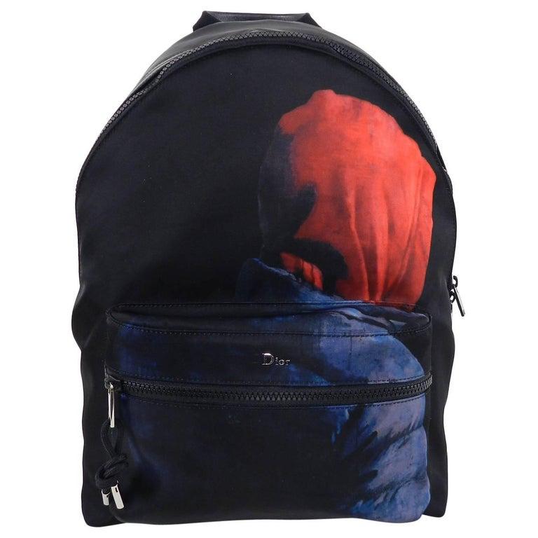 Christian Dior Homme – X Francois Bard spring 2018 Floral backpack  For Sale