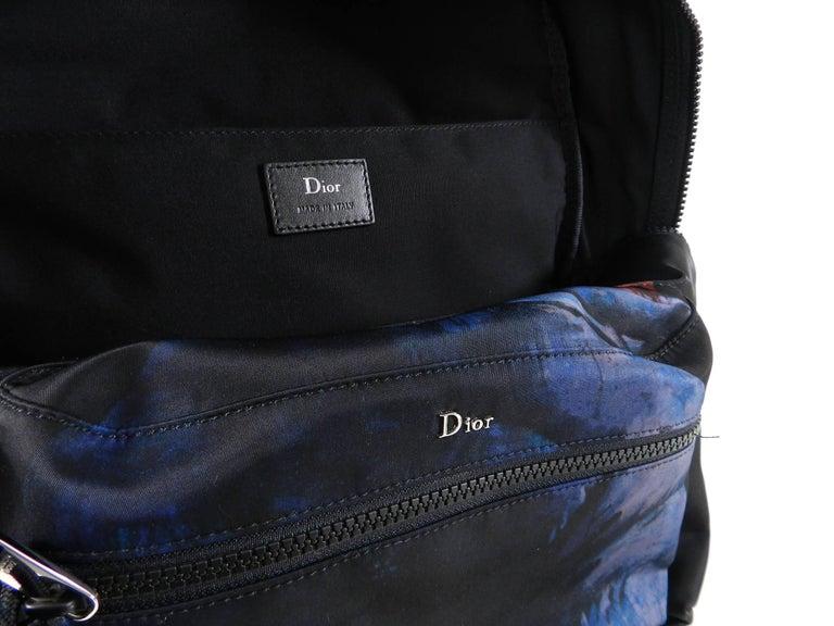 Christian Dior Homme – X Francois Bard spring 2018 Floral backpack  For Sale 5