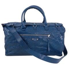 Balenciaga City Blue Giant Weekender Overnight Duffle Bag