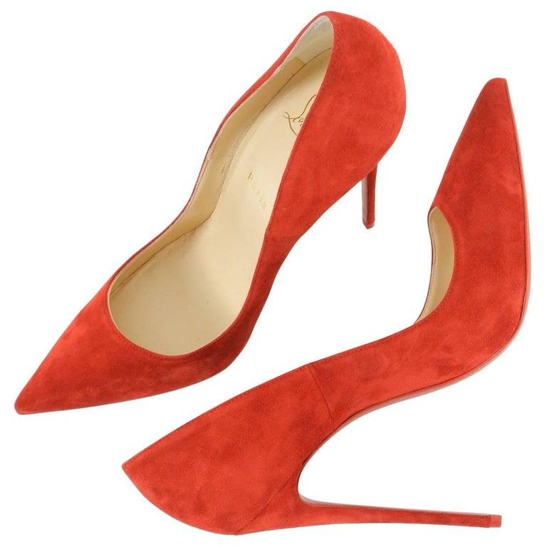 5efa714b940 Christian Louboutin Red Flamenco Suede So Kate 120 Pumps   Heels ...
