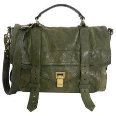 Proenza Schouler PS1 Olive Green Satchel Bag Large
