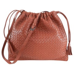 Bottega Veneta Brick Red Intrecciato leather Drawstring Bag