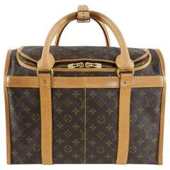 Louis Vuitton Monogram Canvas Sac Chien Train Case Bag