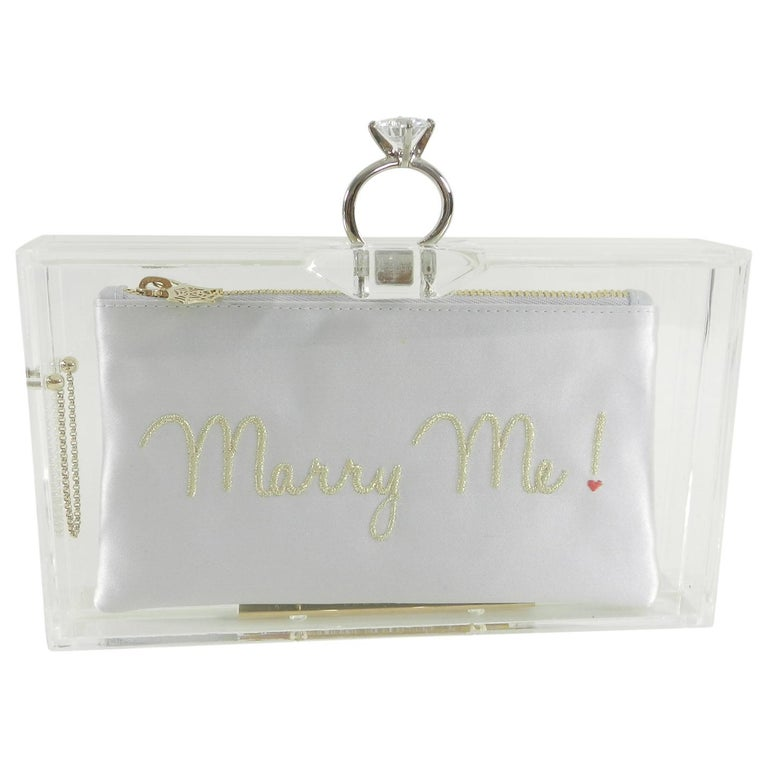 6ca549316f683 Charlotte Olympia Marry Me Acrylic Clutch Bag For Sale at 1stdibs
