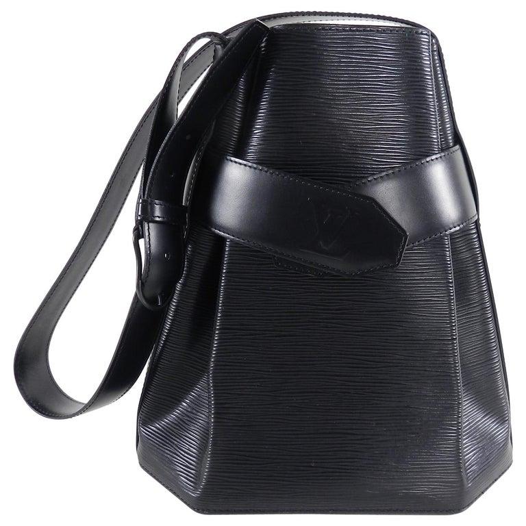 Louis Vuitton Vintage Black Epi Sac D Epaule Bag For