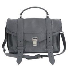 Proenza Schouler PS1 Medium Heather Grey Leather Satchel Bag