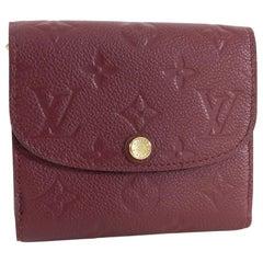 Louis Vuitton Monogram Empreinte Ariane Wallet Raisin