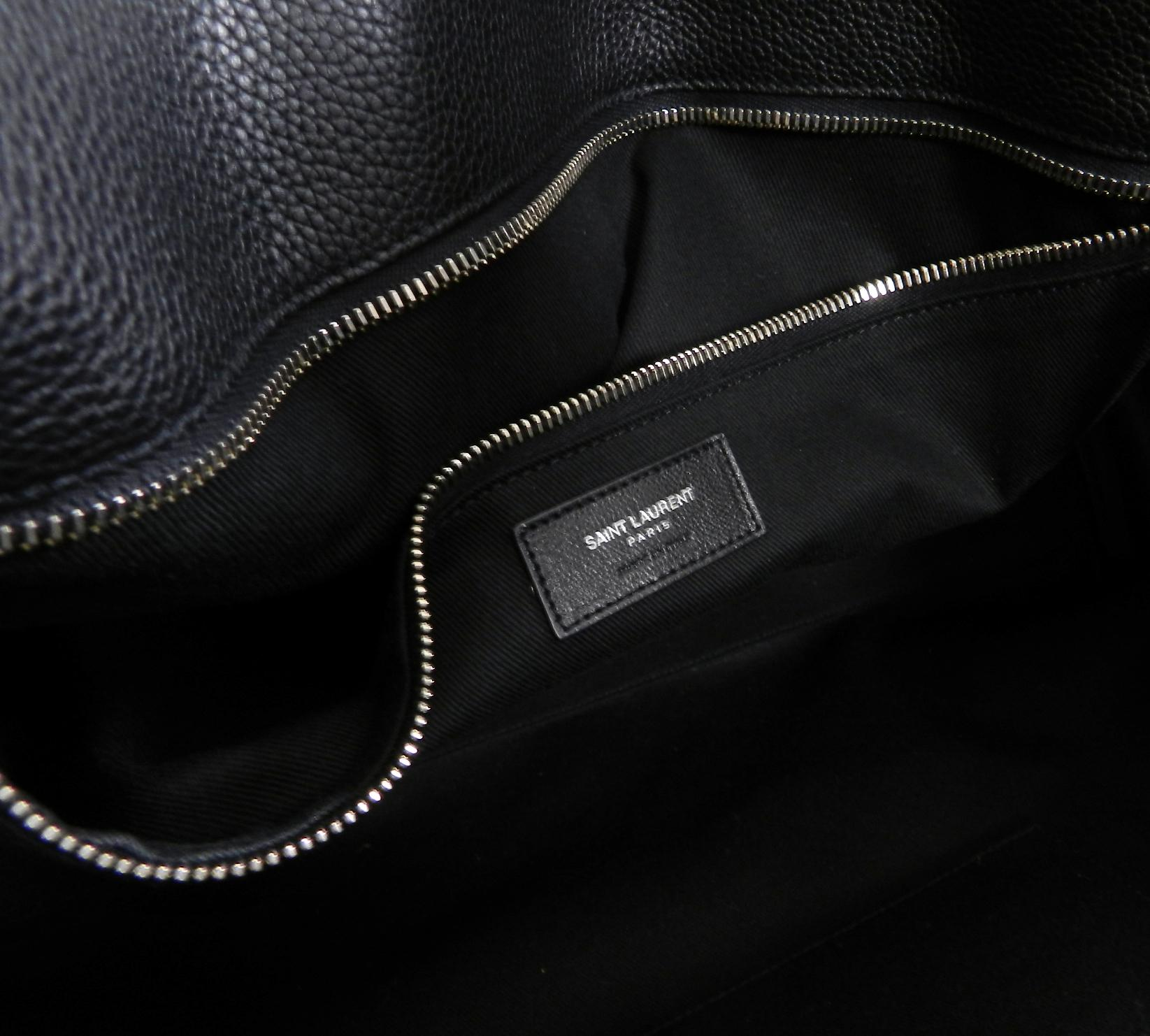 Saint Laurent Black Leather Sac de Jour 48H Large Duffle Bag For Sale at  1stdibs 66fdacc07650b