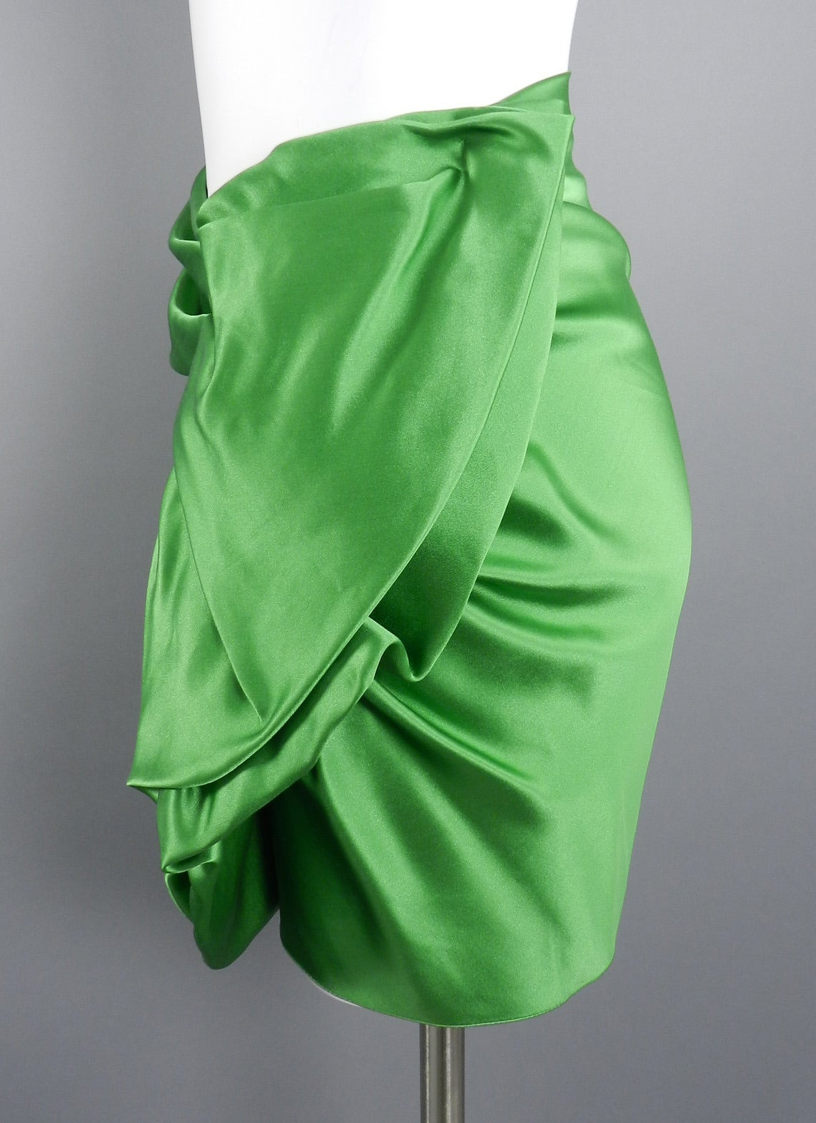 Lanvin 2009 Spring Runway Green Silk skirt 4