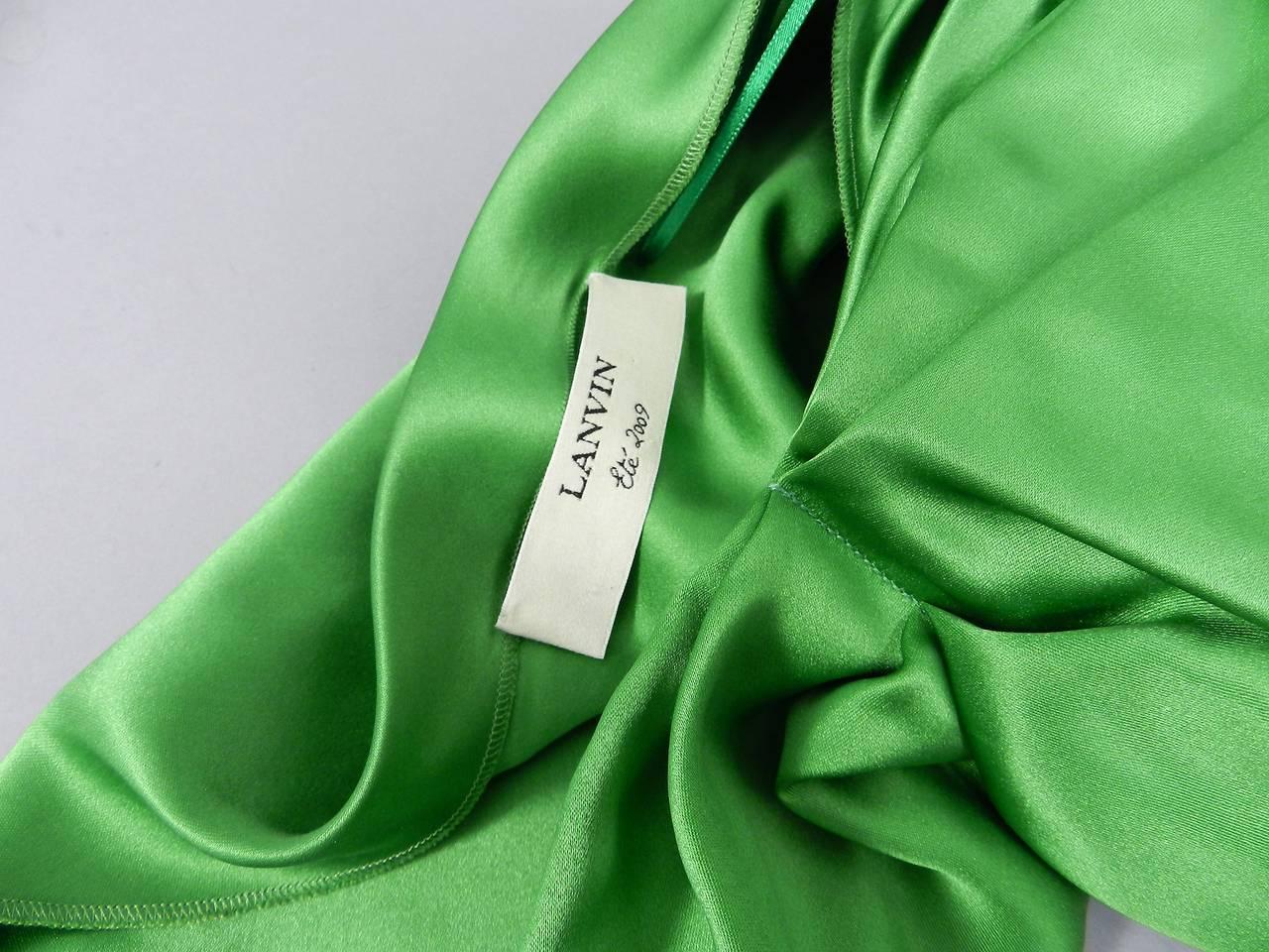 Lanvin 2009 Spring Runway Green Silk skirt 6