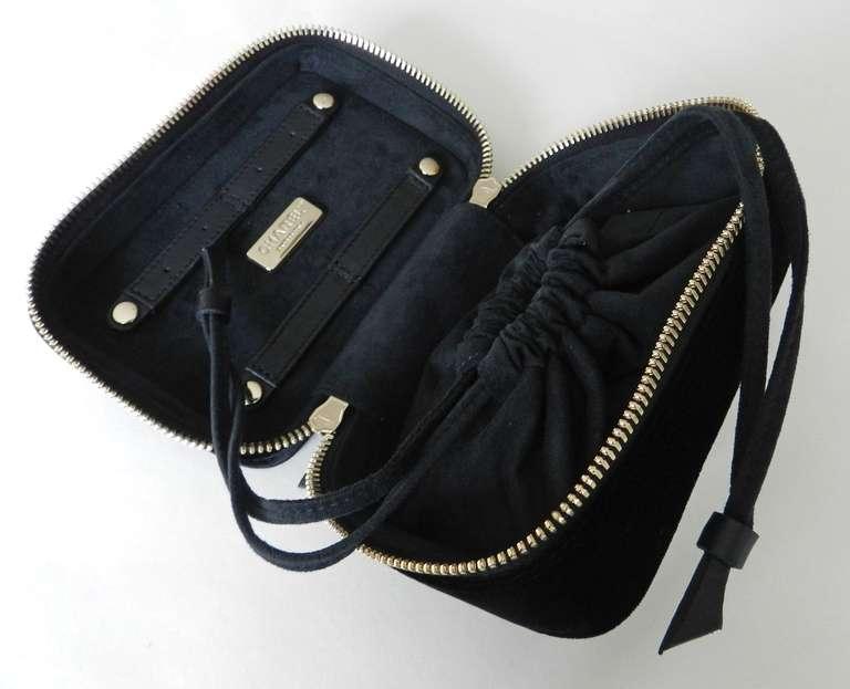 Chanel Black Velvet Travel Vanity Case Bag At 1stdibs