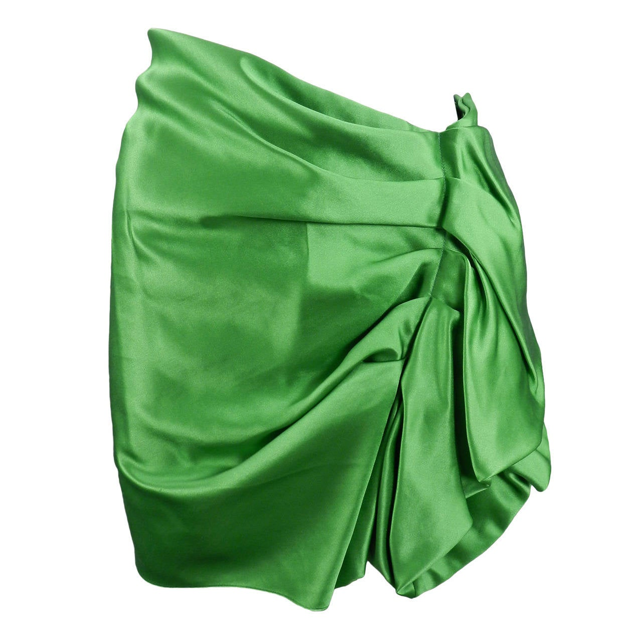 Lanvin 2009 Spring Runway Green Silk skirt 1
