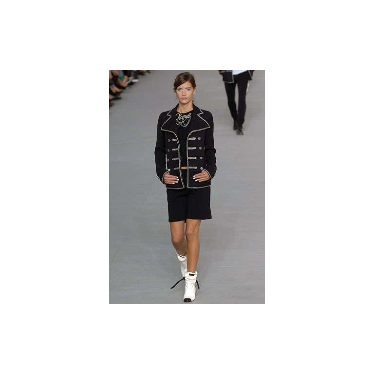 Chanel 06P Runway Black Jacket w Silver Embroidery 2