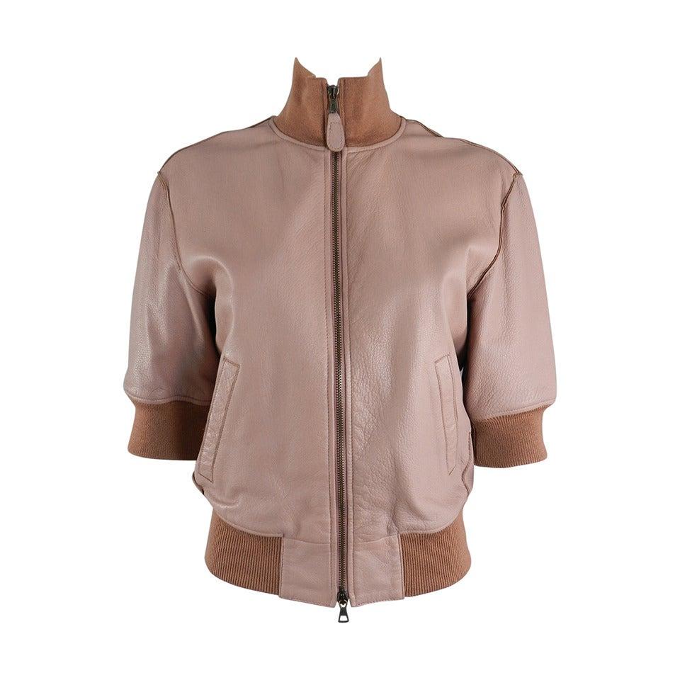 jean paul gaultier femme runway leather bomber jacket at 1stdibs. Black Bedroom Furniture Sets. Home Design Ideas