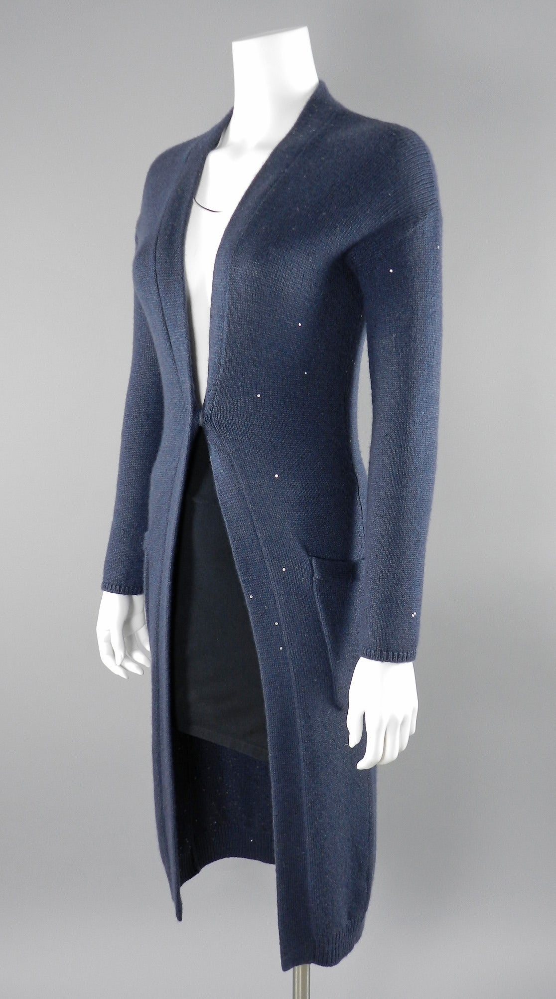 Brunello Cucinelli Cashmere Long Cardigan Sweater at 1stdibs