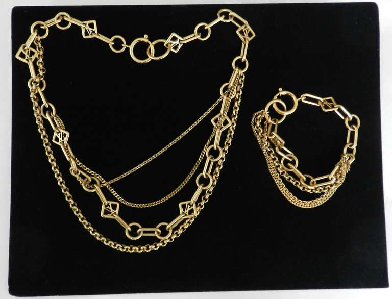 Louis Vuitton Las Vegas Multi Chain Necklace and Bracelet 2