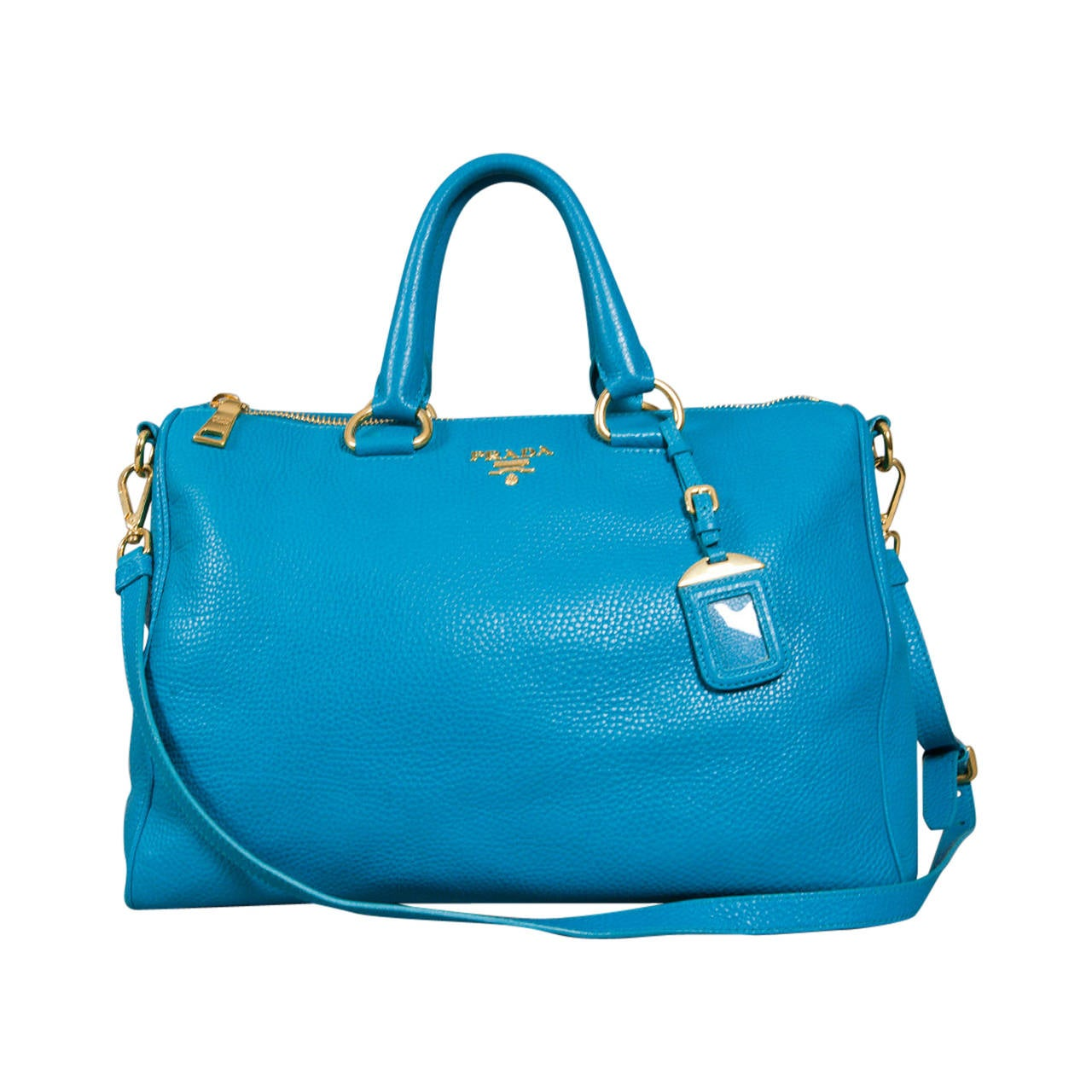 Turquoise Leather Shoulder Bag 83