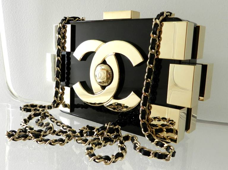 Chanel Lego Brick Bag 2017 Black And Gold In Excellent Condition For Toronto