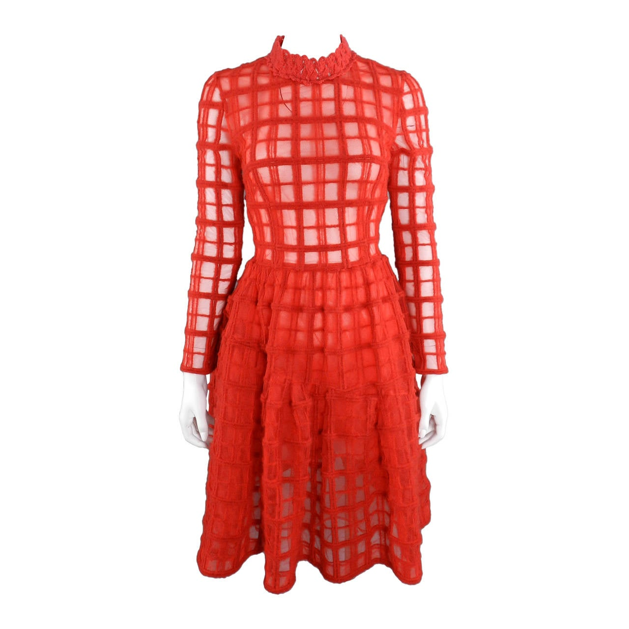 simone rocha fall 2014 red runway dress at 1stdibs