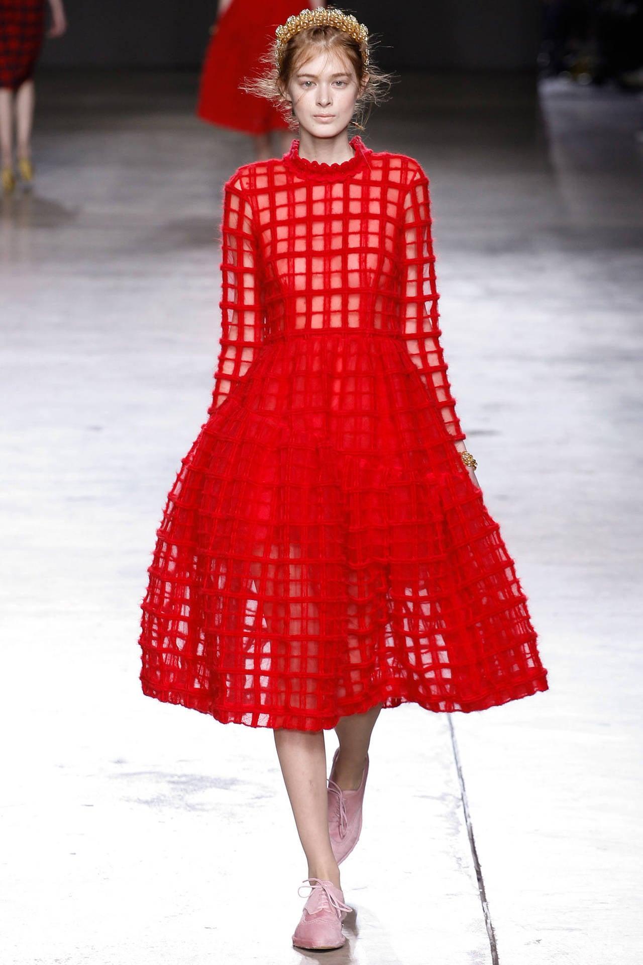 Simone Rocha Fall 2014 Red Runway Dress At 1stdibs