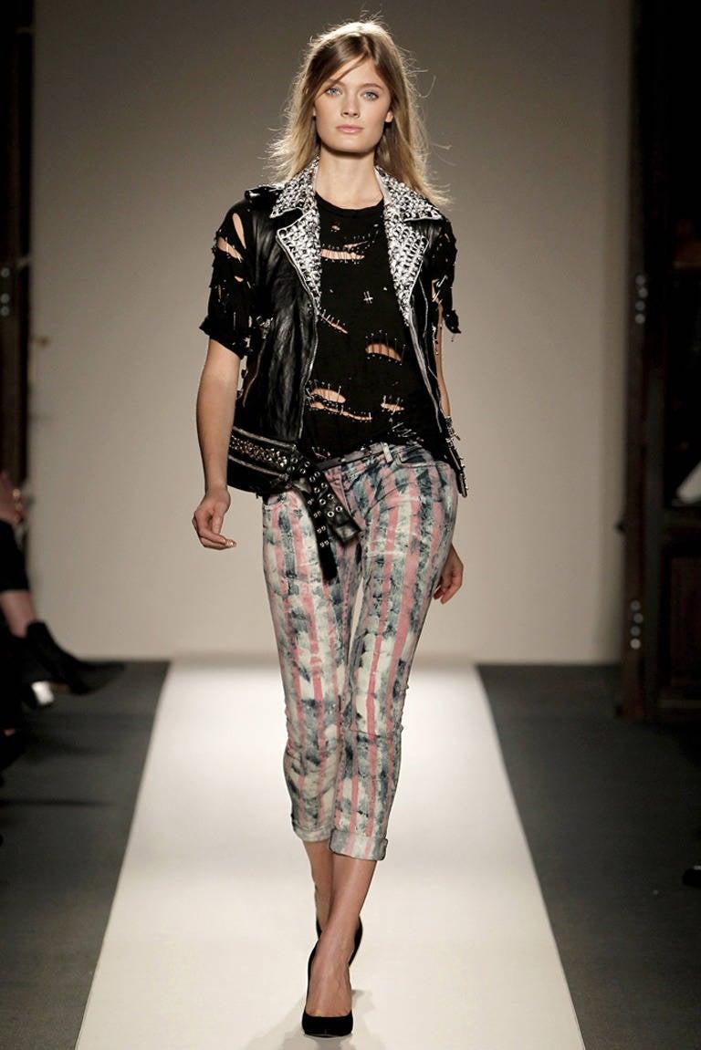 Balmain Studded Leather Runway Vest 2