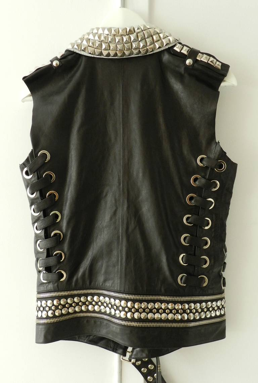 Balmain Studded Leather Runway Vest 3