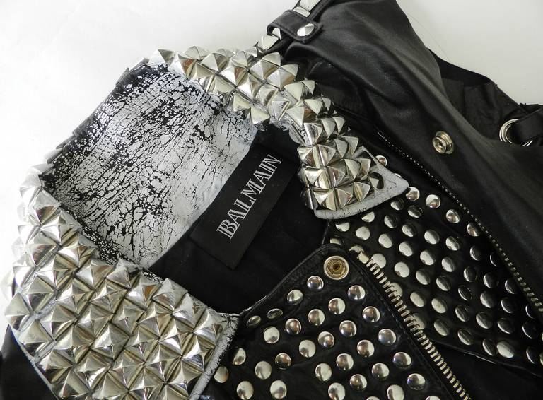 Balmain Studded Leather Runway Vest 4