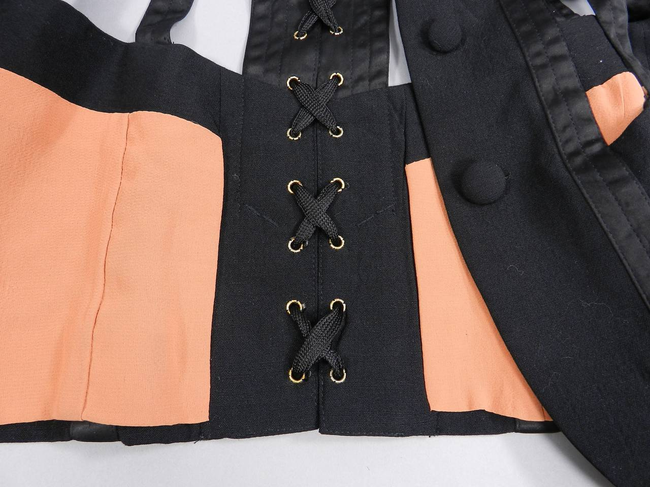 Jean Paul Gaultier Iconic 1989 Black Corset Cage Jacket For Sale 4
