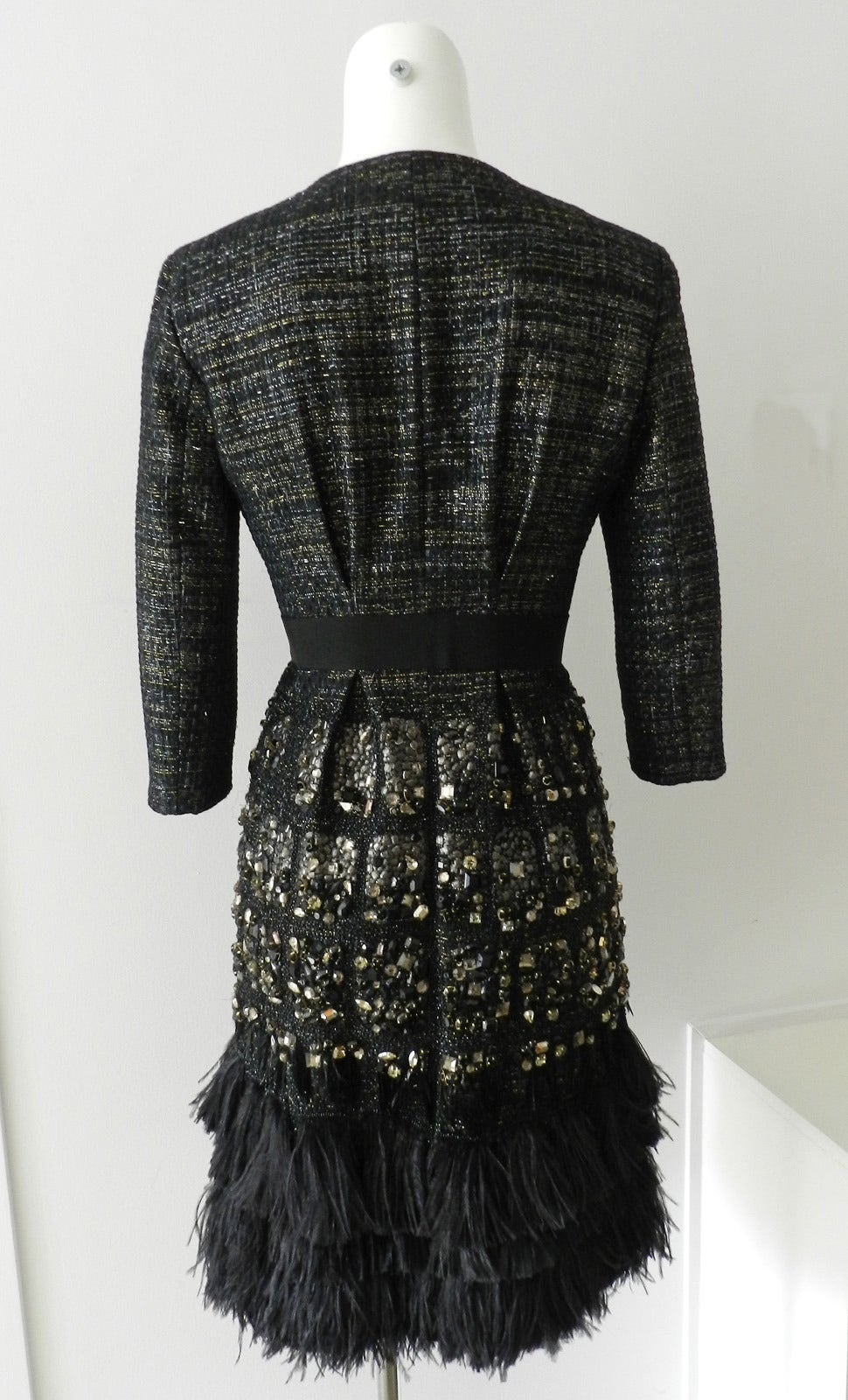 Giambattista vali haute couture crystal beaded feather for Haute couture jacket