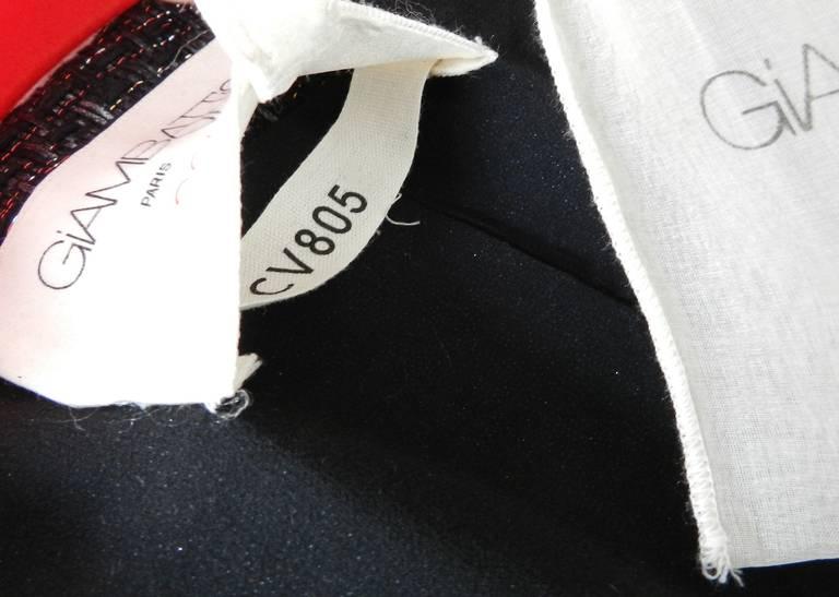 Giambattista Vali Haute Couture Crystal Beaded Feather Trim Jacket 10