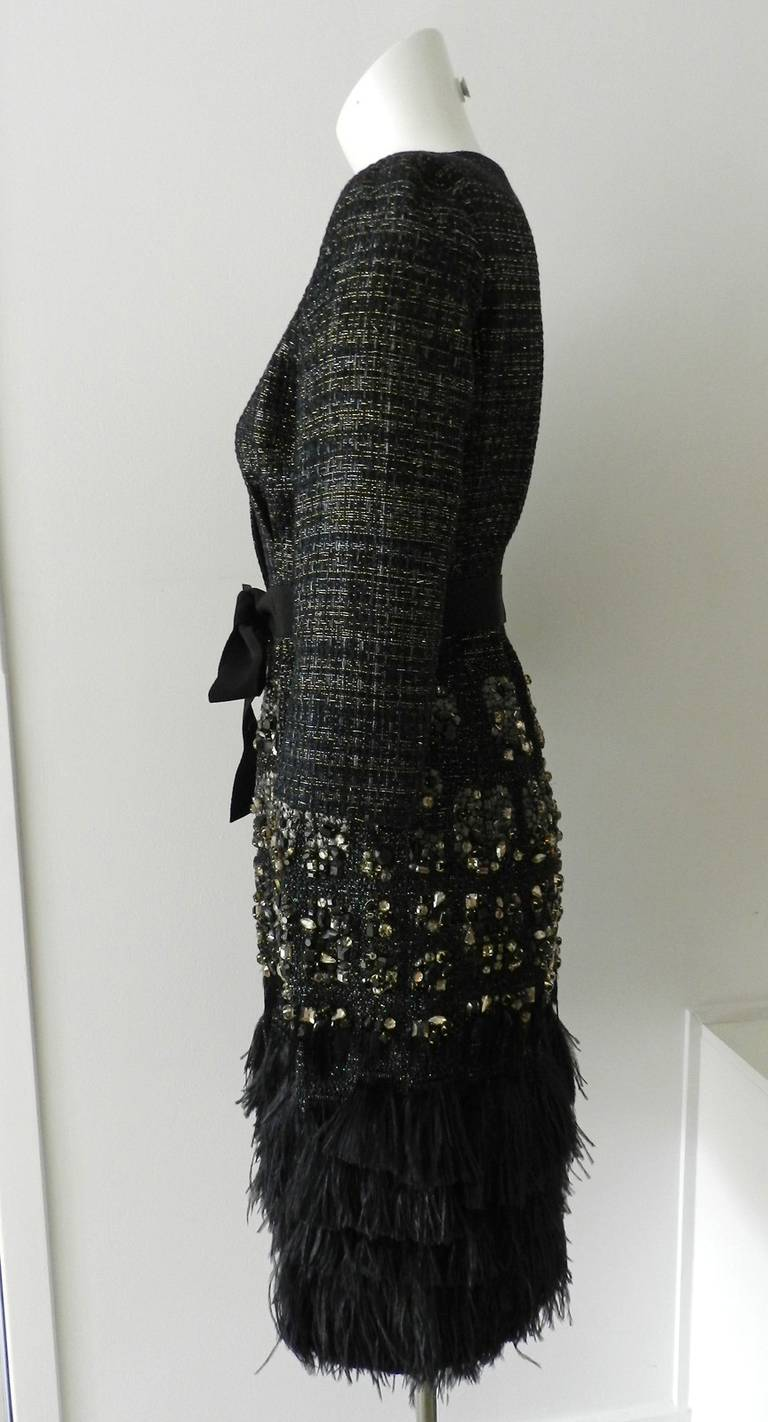 Giambattista Vali Haute Couture Crystal Beaded Feather Trim Jacket 4