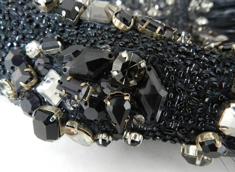 Giambattista Vali Haute Couture Crystal Beaded Feather Trim Jacket 9